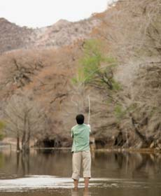 Fly Fishing on calm water