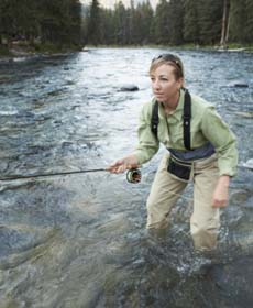 Fly Fishing fast water